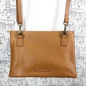 🆕 LUCKY BRAND Chira Brown Leather Crossbody